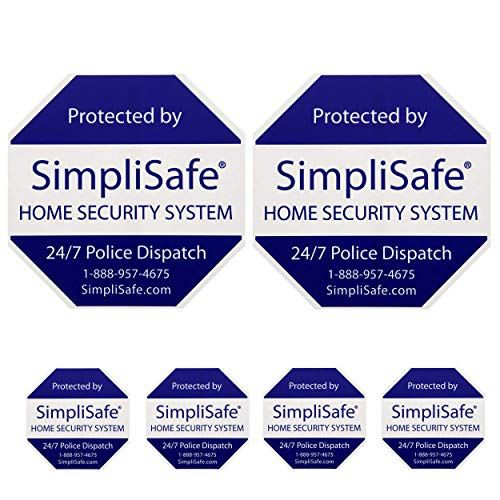 SimpliSafe 2 Home Security Yard Signs and 4 Security Stickers Decals for Doors and Windows
