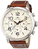 Tommy Hilfiger Mens Quartz Watch, multi dial Display and Leather Strap 1791230