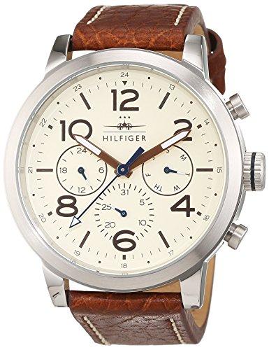 Tommy Hilfiger Herren Analog Quarz Uhr mit Leder Armband 1791230