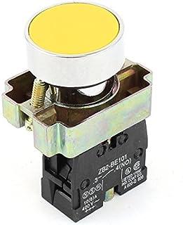 1 GEEN N/O Geel Teken Momentary Drukknop Schakelaar 600V 10A