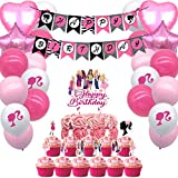 Party Favors Girl Party Supplies Cake Toppers Balloons Banners Cake Toppers Decorations Girls Theme Birthday Party