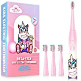 Kids Electric Toothbrush Rechargeable, Soft Unicorn Tooth Brush with Timer Powered by Sonic