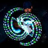 GloFX Gel Glove Set - Light Up Rave EDM 9 Mode LED Gloves