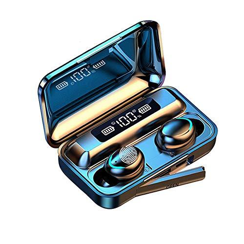 Auriculares Bluetooth 5.0 Inalámbricos Mic Reducción Ruido CVC 8.0,TWS Huella Digital Táctil De Alta Fidelidad En La Oreja Auriculares,Pantalla Grande LED Pantalla Digital Auriculares miniatura