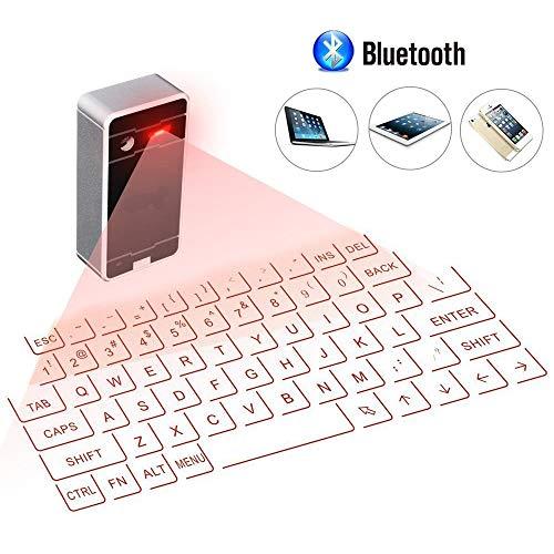 KawKaw Virtuelle Bluetooth Laser-Tastatur fürs Smartphone, Laptop und PC - Funktastatur mit Keyboard-Projektor und Touch-Funktion