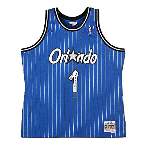 Penny Hardaway Autographed & Inscribed Orlando Magic Blue Swingman Mitchell & Ness Jersey - Upper Deck - Autographed NBA Jerseys