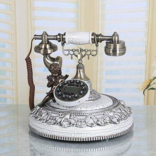 Phone Home Phone Antique Button Phone - Roman Column Candlestick Rotary Telephone - Corded Retro Phone - Vintage Decorative Telephones Traditional Bell Ring Tone Telephone (Color : C) ( Color : C )