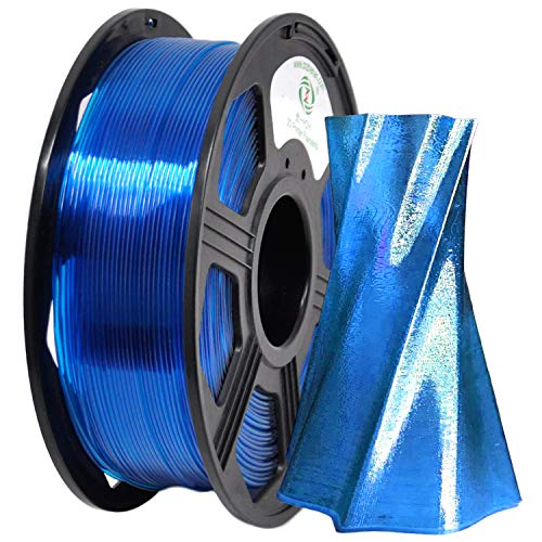YOYI 3D Printer Filament,PETG Filament 1.75mm 2.2lbs(1kg) Spool, Dimensional Accuracy +/- 0.03 mm,100% Europe Raw Material (Transparent Blue)