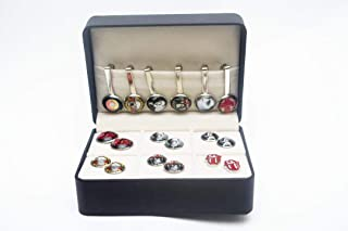Geeky Daddys Den Rock N Roll Hall of Fame Cufflink Tie Back Box Set ACDC Queen Rolling Stones Elvis Guns N Roses David Bowie