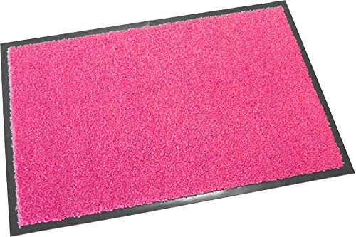 Trend Products Stuttgart Hochwertige Fußmatte (Pink, 60x40 cm) Waschbare Schmutzfangmatte, Türmatte in 11 Farben und 4 Größen