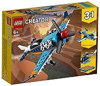 LEGO 31099 Creator 3-in-1 Propellerflugzeug-, Düsenflieger-, Hubschrauber - Spielset, Spielzeug für Kinder ab 7 Jahren