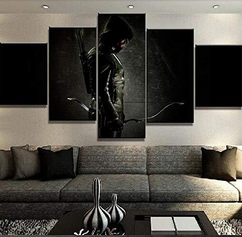 PANPAN Rahmen 5 Stück HD gedruckt Big Arrow Poster Moderne Dekoration Kunst auf Leinwand für Home Decor Wanddekoration gemalt
