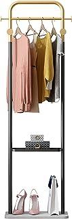 MissZZ Porte-vêtements Nordique Moderne sur Pied avec étagères à 2 Niveaux et 4 Crochets, Porte-vêtements en métal et prés...