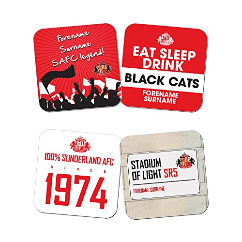 Official Personalised Sunderland AFC Coasters