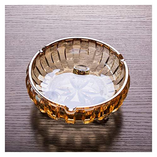 WAGA Creatividad Cenicero de Cristal de cenicero de Ceniza de Cristal Hecho a Mano Minimalista Trípode Forma de Bandeja de Ceniza, decoración de Oficina en casa Hombres Decoración h