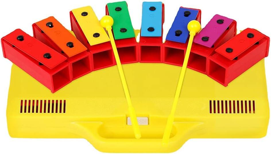 GEEKEN Xylophone Chicago Mall Glockenspiel 8 Chromatic Resonator Notes Large-scale sale Bells