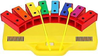 Deesen Xylophone Glockenspiel 8 banknotów chromatyczny dzwony rezonator z żółtą obudową