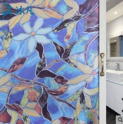 N / A 3D dreidimensionale elektrostatische Glasfolie Bad Fenster Bad transparent undurchsichtig Fenster Aufkleber Fenster Papier antitransparente Privatsphäre dekorative Folie A32 45x100cm