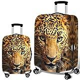Bbl345dLlo - Copertura per valigia trolley con stampa leopardata 3D