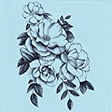 DaLin 4 Sheets Sexy Temporary Tattoos for Women Flowers Collection (Jasmine Flower)