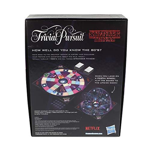 Trivial Pursuit Netflix's Stranger Things Back to the 80s Edition Board Game