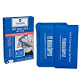 EYL Cold Pack and Hot Pack  Ice Pack for Knee, Shoulder, Back, Injuries - Migraines - Microwave Heating Pad (Two Pack) 9.5 x 5 and 9.5 x 7