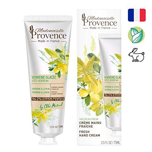 Mademoiselle Provence Crème voor verse handen, ijzeren kruid en citroen, 2 stuks