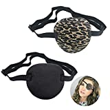 2PCS Eye Patches, Soft Medical Eye Patch Adjustable Amblyopia Lazy Eye Patches, Pirate Eye Patches for Kids and Adults, 2 Color