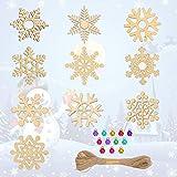LAITER Juego de Decoración Navideña 80 Copo de Nieve Calado Y 80 Campanas Navideñas de...