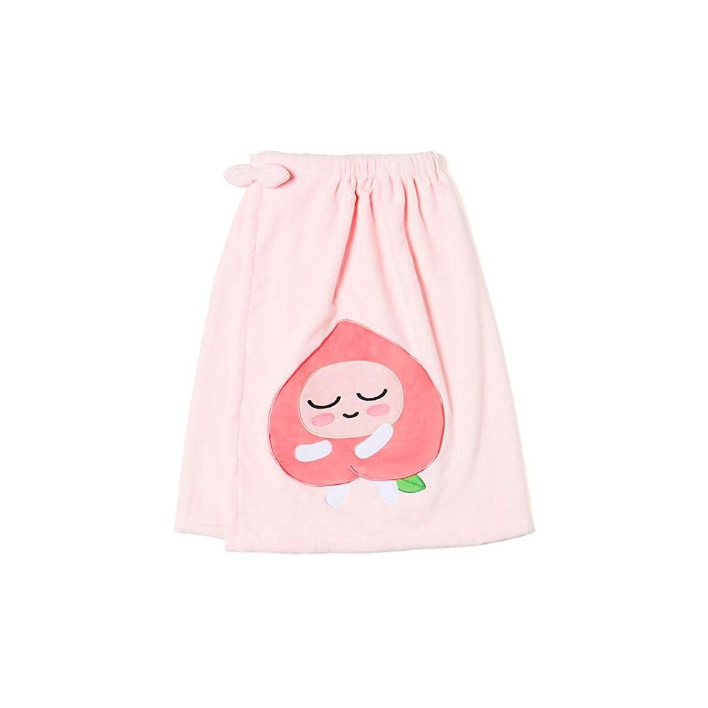 マッサージ卒業瞳[オフィシャル] カカオフレンズ – スイートアピーチ バスドレスガウンピンク KAKAO FRIENDS - Sweet Apeach Bath Dress Pink