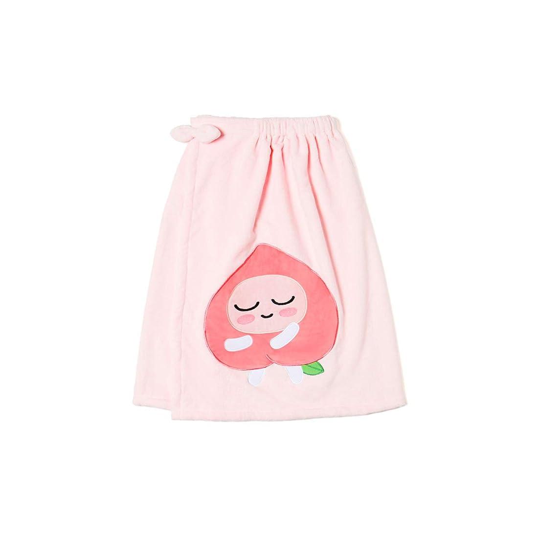 経済的反映するかんたん[オフィシャル] カカオフレンズ – スイートアピーチ バスドレスガウンピンク KAKAO FRIENDS - Sweet Apeach Bath Dress Pink