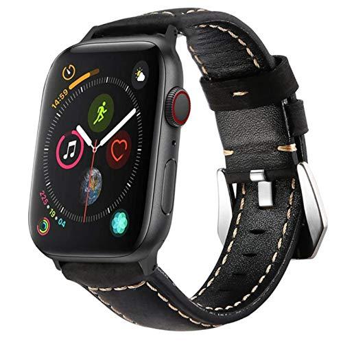 Para apple watch 5 bandas 44 mm 40 mm serie 4 3 42 mm 38 mm correa de cuero bandas reloj accesorios pulsera