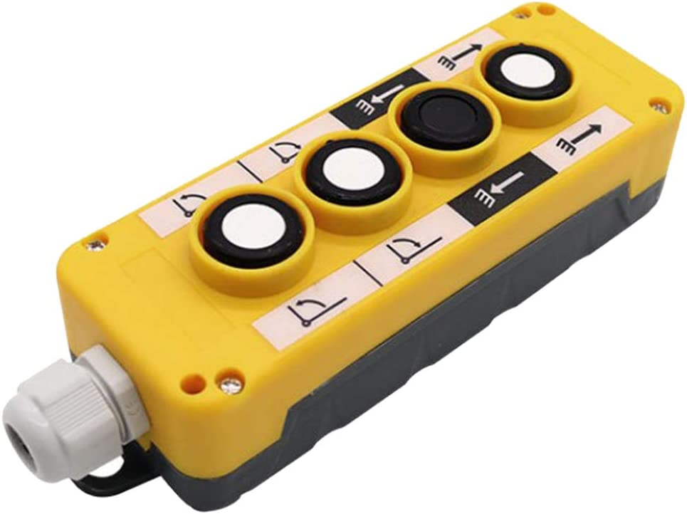 Amarillo COP4B gazechimp Interruptor de Bot/ón de Elevaci/ón de Pl/ástico Abs para Control Remoto de Gr/úas Polipastos El/éctricos y Otros Equipos
