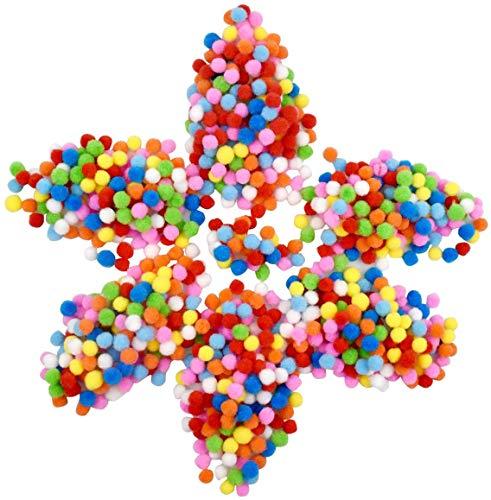 kissral 2000pcs PON PON Colorati Pom Pom 1 cm di Diametro Palline Colorate per Fai da Te Cucire Decorazione Festa Nozze attività Manuali per Bambini Kit per Lavorare a Maglia