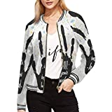 INTERESTPRINT Women's It's All in Your Hands, Calligraphic Inspiration Word Classic Jacket Short Bomber Jacket Coat XL by INTERESTPRINT