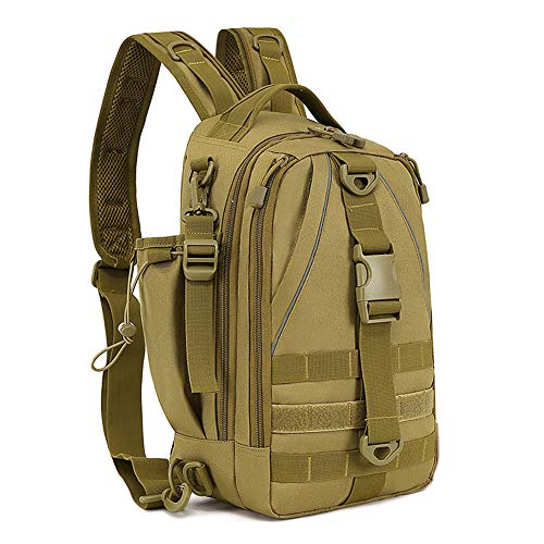 Huntvp Tactical Chest Sling Bag Military Molle Fly Fishing Tackle Backpack...