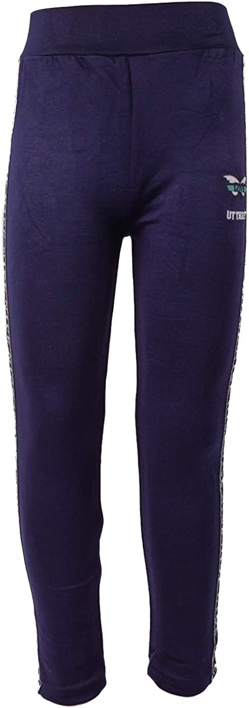 Zoloto Leggings for Girls with Applique and Stripes Navy
