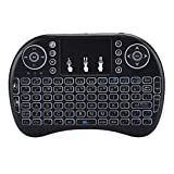 fosa1 Wireless Bluetooth Tricolor Backlight Keyboard, English Keyboard Ergonomic Design USB Keypad Hand-held Mini QWERTY 92-Key Keyboard Silent Keyboard Support Multimedia/PC Game Control Keys