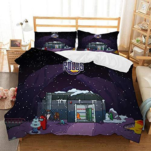 Bedclothes-Blanket Funda nórdica Funda de Colcha,Ropa de Cama de impresión Digital 3D-22_180x210