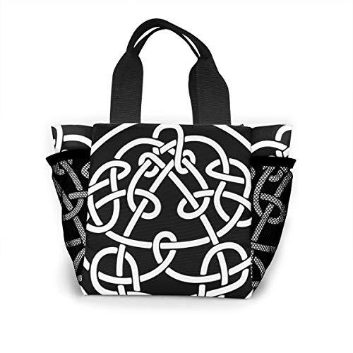 King Crimson Discipline キング・クリムゾン 大容量ハンドエコバッグ ランチバッグ買い物袋手提げ袋両側の独立した網袋 通勤 通学 旅行