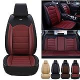 Juego Completo de Funda de Asiento de Coche para Ford Escape KA Fiesta ST B-MAX Focus ST RS Funda Protectora de Cuero Impermeable y a Prueba de Polvo Negro Rojo