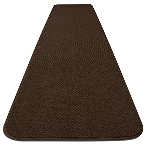 House, Home and More Skid-Resistant Carpet Runner - Chocolate Brown - 10 Feet X 36 Inches