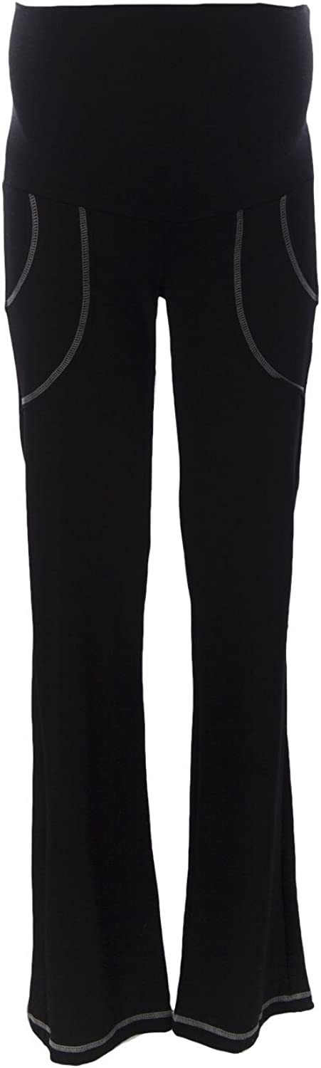 9FASHION Maternity Women's Fitmama IV Trousers, Small, Black
