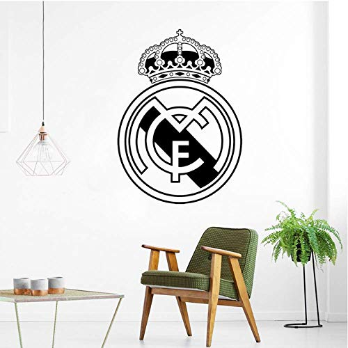 Etiqueta De La Pared 79Cm * 57Cm Fútbol Real Madrid Logo Wall Art Decal Vinyl Stickers Para Office Decals Dormitorio Mural Amsterdam Wall Sticker Poster