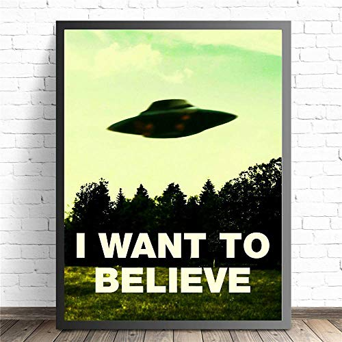1000 Pieces of Wooden Puzzle I Want to Believe X File Puzzle Toy Adult Game Family Wall Decoration 50x75cm