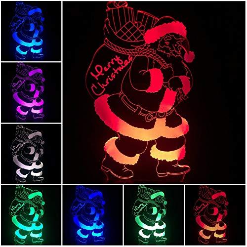 Sanzangtang Led-nachtlampje, 3D-vision-zeven, kleuren-afstandsbediening, leuke senioren licht, veelkleurige variaties, kindergeschenk, tafel, nachtlampje, vakantie, feest, decoratie, nachtlampje