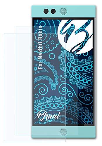 Bruni Schutzfolie kompatibel mit Nextbit Robin Folie, glasklare Bildschirmschutzfolie (2X)