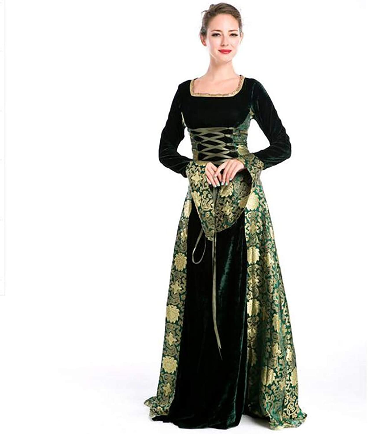 SHANGXIAN Halloween Women Vintage Dresses Style Cosplay Costume Nightclubs Stage Performance Dress,Onesize