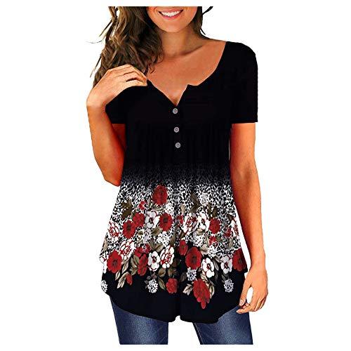 Sky Blue T Shirts Pink Striped Shirt Women Womans Tops Short Sleeve Womens Outfit Side Splits Hem Ladies Shirt Hawaiian Shirts for Men Mindful Souls Boho Shirt Women Tops and Blouses for Work
