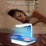 YYSDH 2020 UV desinfectante desinfección con luz con Carga inalámbrica La esterilización teléfono Inteligente teléfono y el Cargador inalámbrico para el iPhone Samsung,Blanco